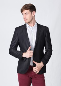Blackberrys Solid Party Men's Blazer