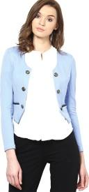 Vero Moda Solid Single Breasted Casual Women's Blazer(Light Blue)