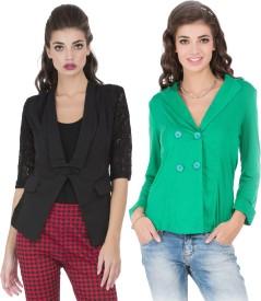 Cay Solid Single Breasted Casual Women's Blazer(Multicolor)