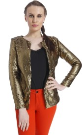 Vero Moda Embellished Single Breasted Casual Women's Blazer(Gold)