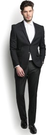 Blackberrys Self Design Single Breasted Party Men's Blazer