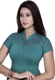 Gargi Band collar Women's Stitched Blouse
