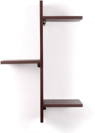 Amour Solid Wood Open Book Shelf(Finish Color - Brown)