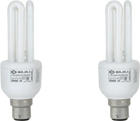 Miniz 3U 15 W CFL Bulb (Pack of 2)