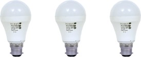 9W Aluminium Body White LED Bulb (Pack of 3)