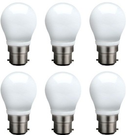 3 W B22 QA0301 LED Bulb (White, Pack of 6)