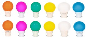 Philips 0.5W B22 LED Bulb (Multicolor, Pack of 12)