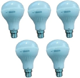 Gypee 12W LED Bulb (White, Pack of 5)