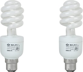15 W Twister Bajaj Miniz CFL Bulb (White, Pack of 2)