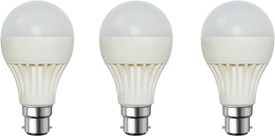 3-W-B22-LED-Bulb-(White,-Pack-of-3)