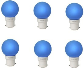 Pyrotech 0.5W LED Bulb (Blue, Pack of 6)
