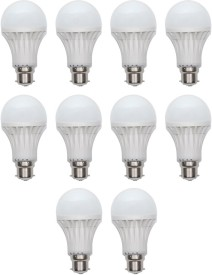 Harit Energy 7W B22 LED Bulb (White, Set of 10)
