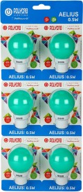 Polycab 0.5 W LED Frequent Switching Bulb (Green, Pack of 6)
