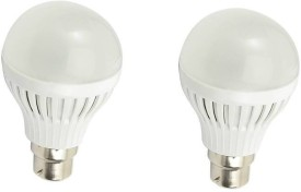 7W B22 LED Bulb (White) [Pack of 2]