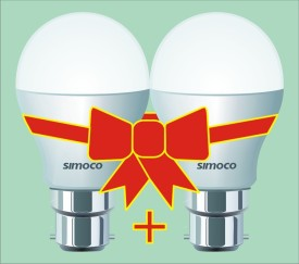 Simoco 3 W B22 LED Bulb (White, Pack of 2)