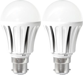 United 12W LED Bulb (White, Pack of 2)