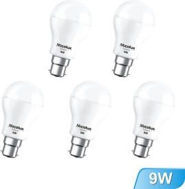 9W White LED Bulbs (Pack Of 5)