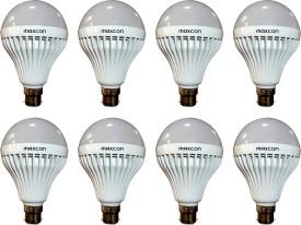 Maxcon 12 W LED 6500k Bulb B22 Cool White (pack of 8)