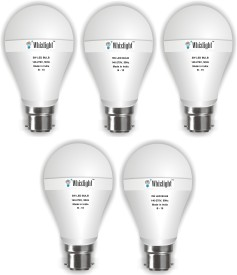 IC Based Energy Saving 5W LED Bulb (White, Pack of 5)