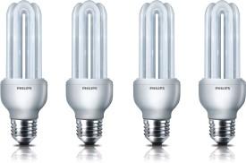 Essential-E27-18-W-CFL-Bulb-(Pack-of-4)