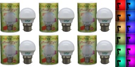 0.5 W LED Mood Night Lamp Bulb Multi color (pack of 6)