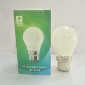 Syska 3 W B22 LED Bulb (White, Pack of 3)