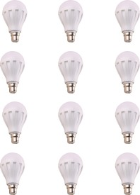 12W LED Bulb (White, Pack of 12)