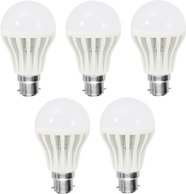 9 W LED Bulb B22 White (pack of 5)