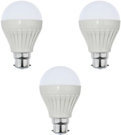 18W B22 LED Bulb (White, Set of 3)