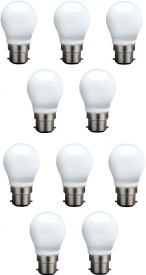 3 W B22 QA0301 LED Bulb (White, Pack of 10)