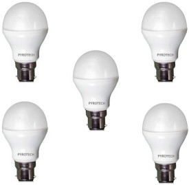 Pyrotech 3W, 5W, 7W, 9W, 12W Cool White LED Bulb (Pack of 5)