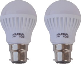 Marshal Gold 3 W LED Bulb (White, Pack of 2)