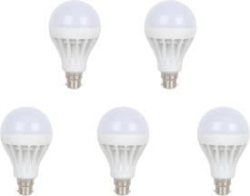 3 W B22 LED Bulb (White, Pack of 5)