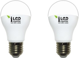 Imperial 10W-WW-E27-3623 Screw LED Bulb (Yellow, Pack Of 2)