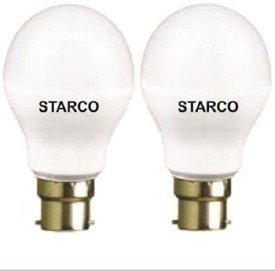 STARCO 7W B22D LED Bulb (White, Pack of 2)