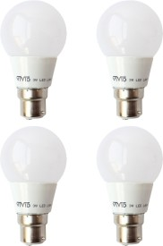 3 W B22 LED Bulb (White, Pack of 4)