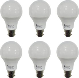 Syska 7W LED Bulbs (White, Pack of 6)