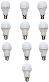 Gs 15W B22 LED Bulb (White, Set of 10)