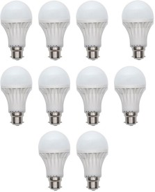 Gold-15W-Plastic-Body-Warm-White-LED-Bulb-(Pack-Of-10)