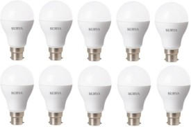 Surya 12W B22D 1260 Lumens White LED Bulbs (Pack of 10)