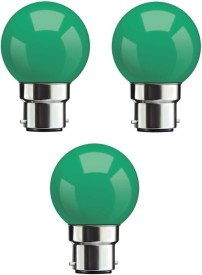 0.5W Green LED Bulb (Pack Of 3)