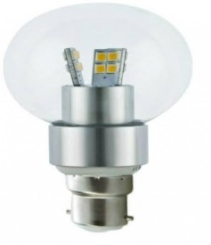 3 W B22 Clear Bulb (Cool White)