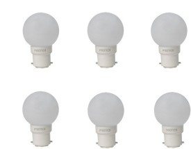 Pyrotech 0.5W White LED Bulb (Pack of 6)