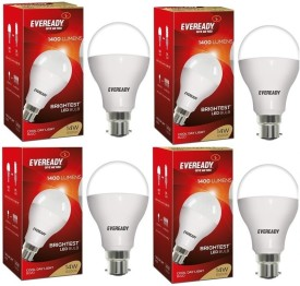14 W LED Warm white Bulb B22 (pack of 4)