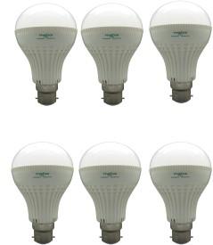 Super Bright 7W LED Bulbs (White, Pack of 6)
