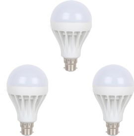 Earton 7W B22 LED Bulb (White, Set of 3)