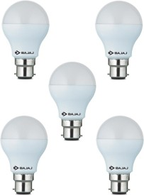 7 W LED CDL B22 CL White Bulb (Pack of 5)