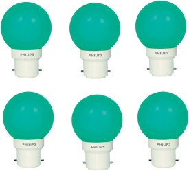 Philips 0.5 W LED Deco B22 IND Bulb Green (pack of 6)