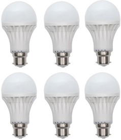 Kalash Gold 15W Plastic Body Warm White LED Bulb (Pack Of 6)