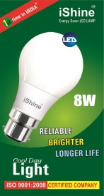 Ishine 8W B22 LED Bulb (White)
